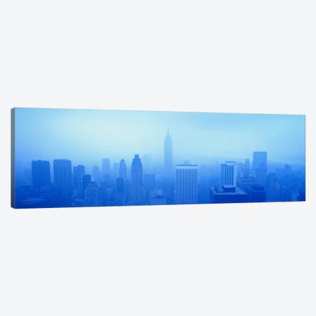 Downtown Skyline On A Hazy Day, New York City New York, USA 3-Piece Canvas #PIM1390} by Panoramic Images Art Print