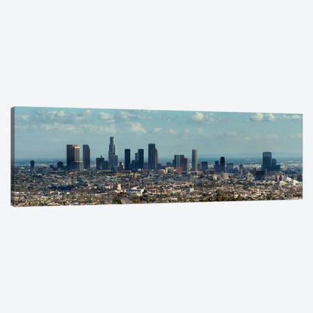 Downtown Skyline, Los Angeles, Los Angeles County, California, USA Canvas Print #PIM13948} by Panoramic Images Canvas Art Print