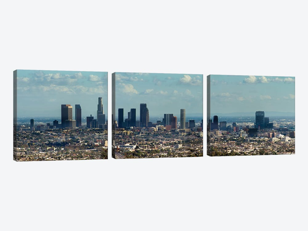 Downtown Skyline, Los Angeles, Los Angeles County, California, USA by Panoramic Images 3-piece Canvas Art