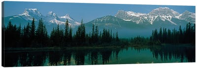 Three Sisters and Mount Lawrence Grassi, Canadian Rockies, Alberta, Canada Canvas Art Print