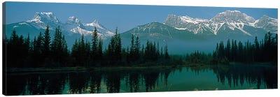 Three Sisters and Mount Lawrence Grassi, Canadian Rockies, Alberta, Canada Canvas Print #PIM13950