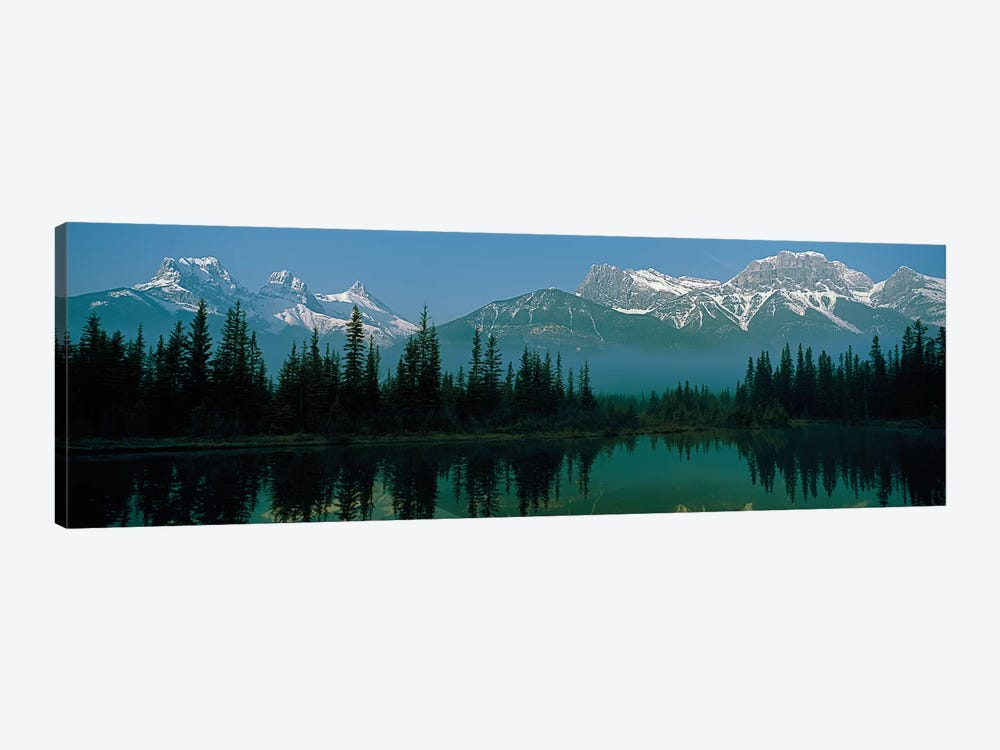 Three Sisters and Mount Lawrence Grassi, Canadian Rockies, Alberta, Canada by Panoramic Images 1-piece Canvas Art Print