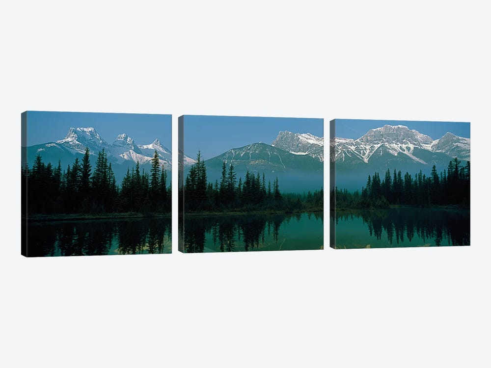 Three Sisters and Mount Lawrence Grassi, Canadian Rockies, Alberta, Canada by Panoramic Images 3-piece Canvas Print