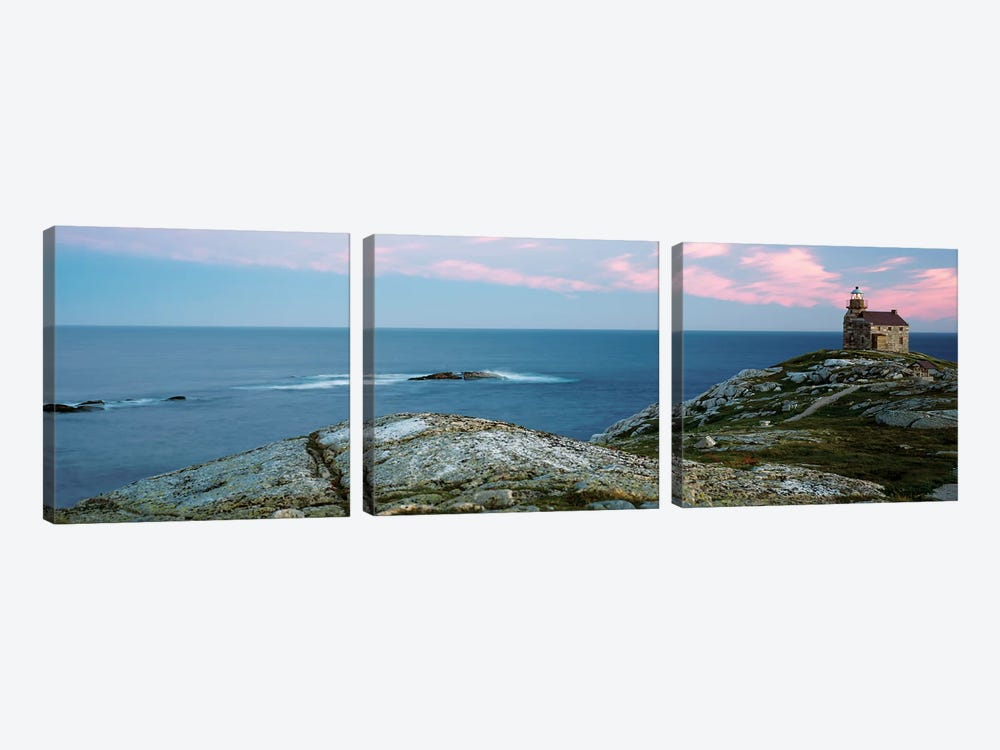Rose Blanche Lighthouse, Rose Blanche-Harbour le Cou, Newfoundland And Labrador Province, Canada by Panoramic Images 3-piece Canvas Artwork