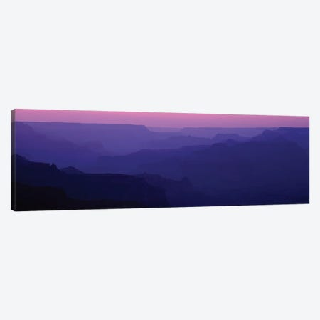Grand Canyon At Sunset, South Rim, Grand Canyon National Park, Arizona, USA Canvas Print #PIM13956} by Panoramic Images Art Print