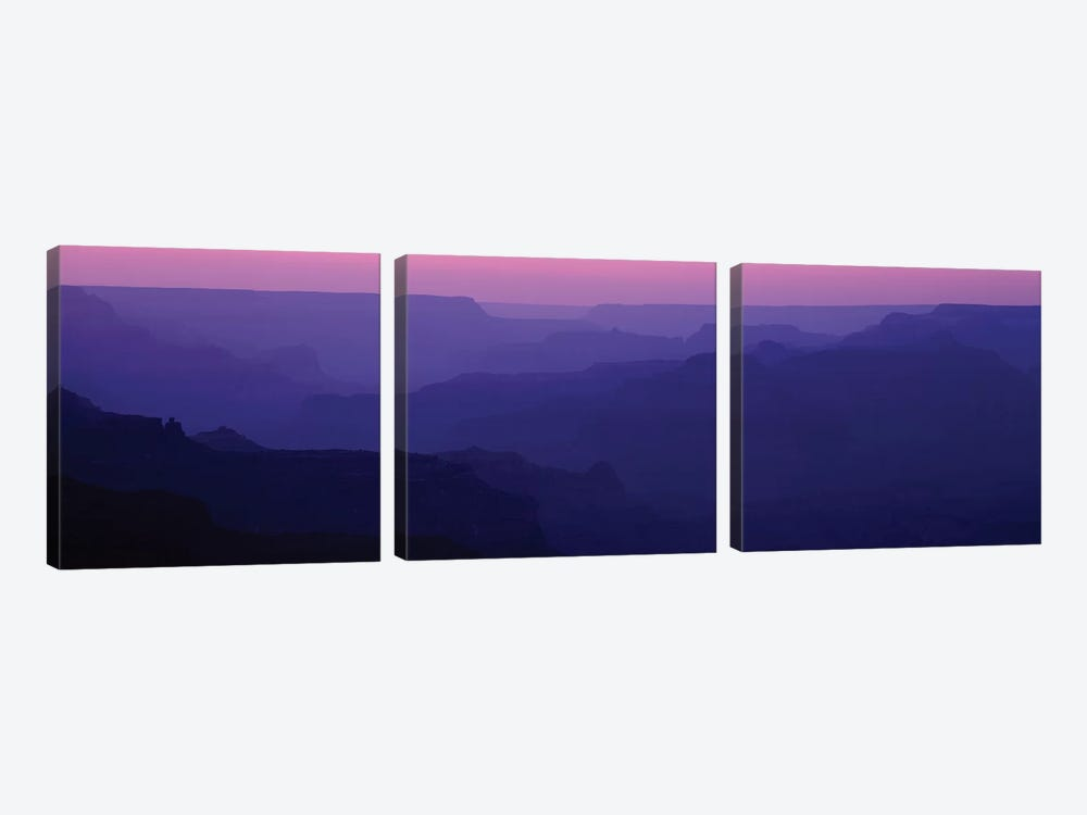 Grand Canyon At Sunset, South Rim, Grand Canyon National Park, Arizona, USA by Panoramic Images 3-piece Canvas Print
