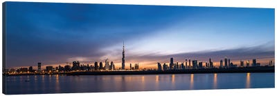 Downtown Skyline At Sunset, Dubai, United Arab Emirates Canvas Art Print