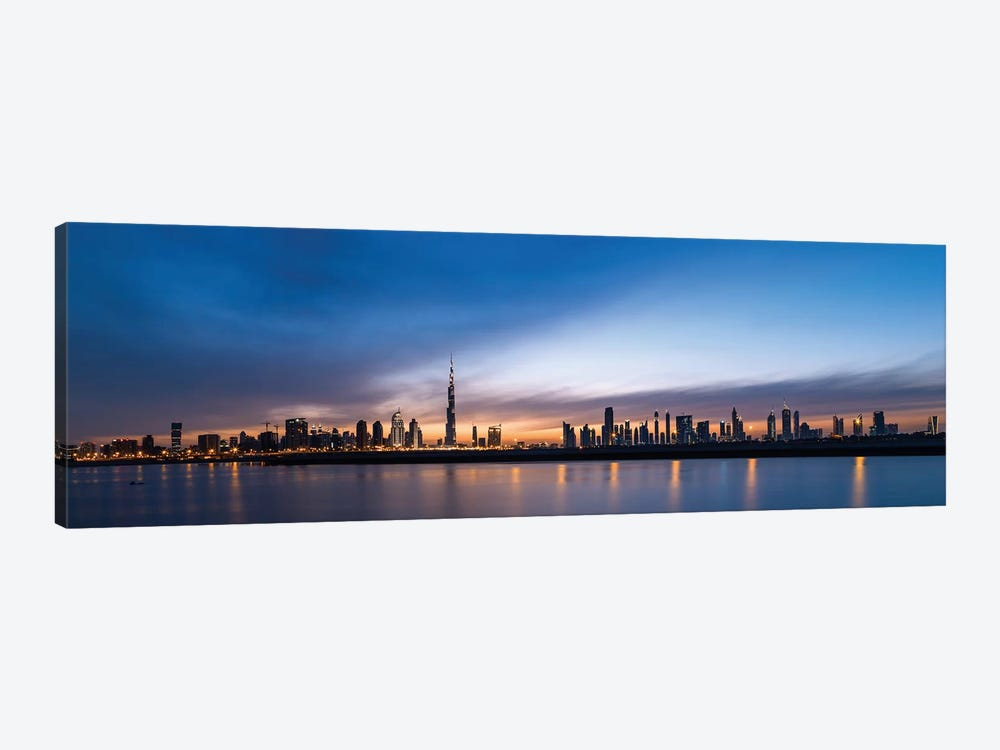 Downtown Skyline At Sunset, Dubai, United Arab Emirates by Panoramic Images 1-piece Canvas Wall Art
