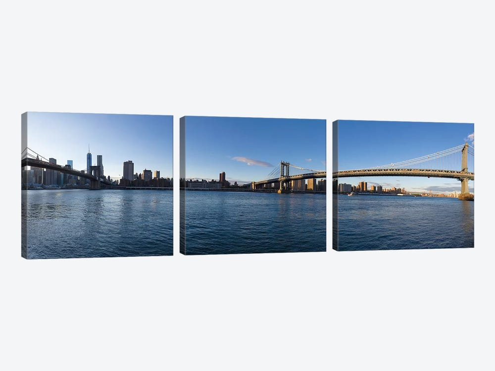 Manhattan Skyline, New York City, New York, USA by Panoramic Images 3-piece Canvas Art Print