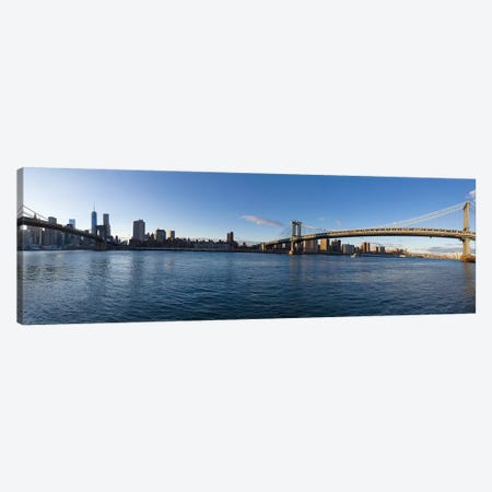 Manhattan Skyline, New York City, New York, USA 3-Piece Canvas #PIM13958} by Panoramic Images Canvas Art