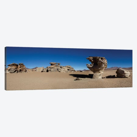 Stone Tree, Eduardo Abaroa Andean Fauna National Reserve, Sur Lipez Province, Potosi Department, Bolivia Canvas Print #PIM13960} by Panoramic Images Canvas Art Print