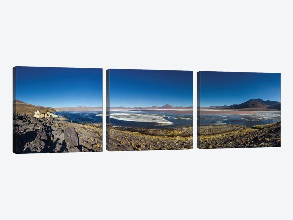 Laguna Colorada, Eduardo Abaroa Andean Fauna National Reserve, Sur Lipez Province, Potosi Department, Bolivia by Panoramic Images 3-piece Canvas Art Print