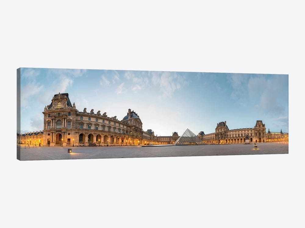 The Louvre Palace and Pyramid, Paris, Ile-de-France, France by Panoramic Images 1-piece Canvas Artwork