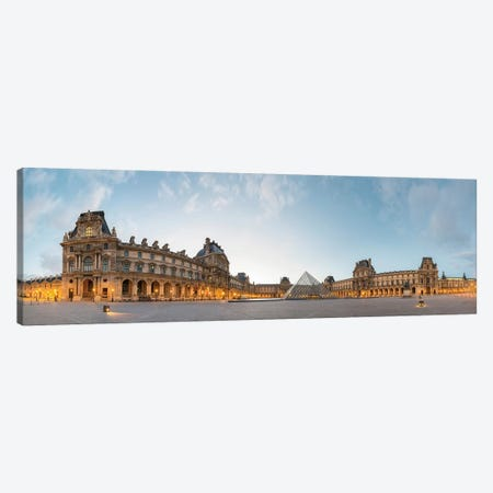 The Louvre Palace and Pyramid, Paris, Ile-de-France, France Canvas Print #PIM13962} by Panoramic Images Canvas Print