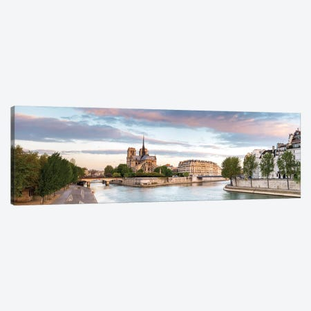 Notre-Dame de Paris (Notre-Dame Cathedral), Paris, Ile-de-France, France Canvas Print #PIM13963} by Panoramic Images Art Print