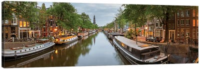 Prinsengracht Canal, Amsterdam, North Holland Province, Netherlands Canvas Art Print