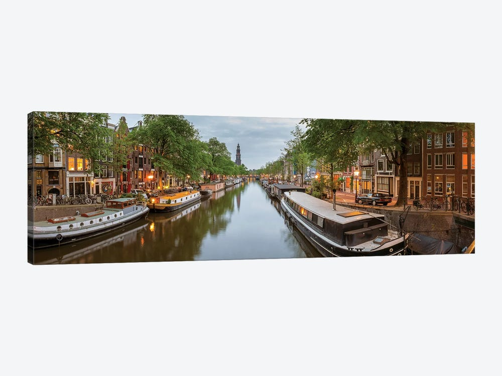 Prinsengracht Canal, Amsterdam, North Holland Province, Netherlands by Panoramic Images 1-piece Canvas Art