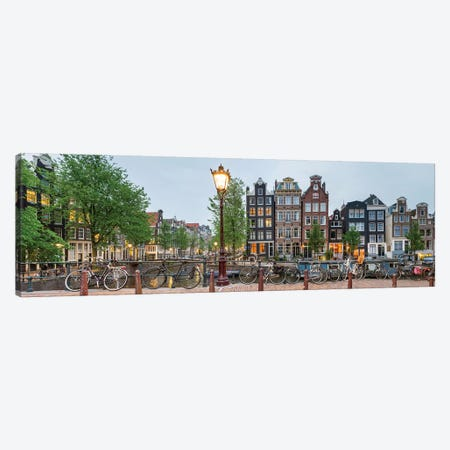 Cityscape I, Amsterdam, North Holland Province, Netherlands Canvas Print #PIM13965} by Panoramic Images Canvas Art