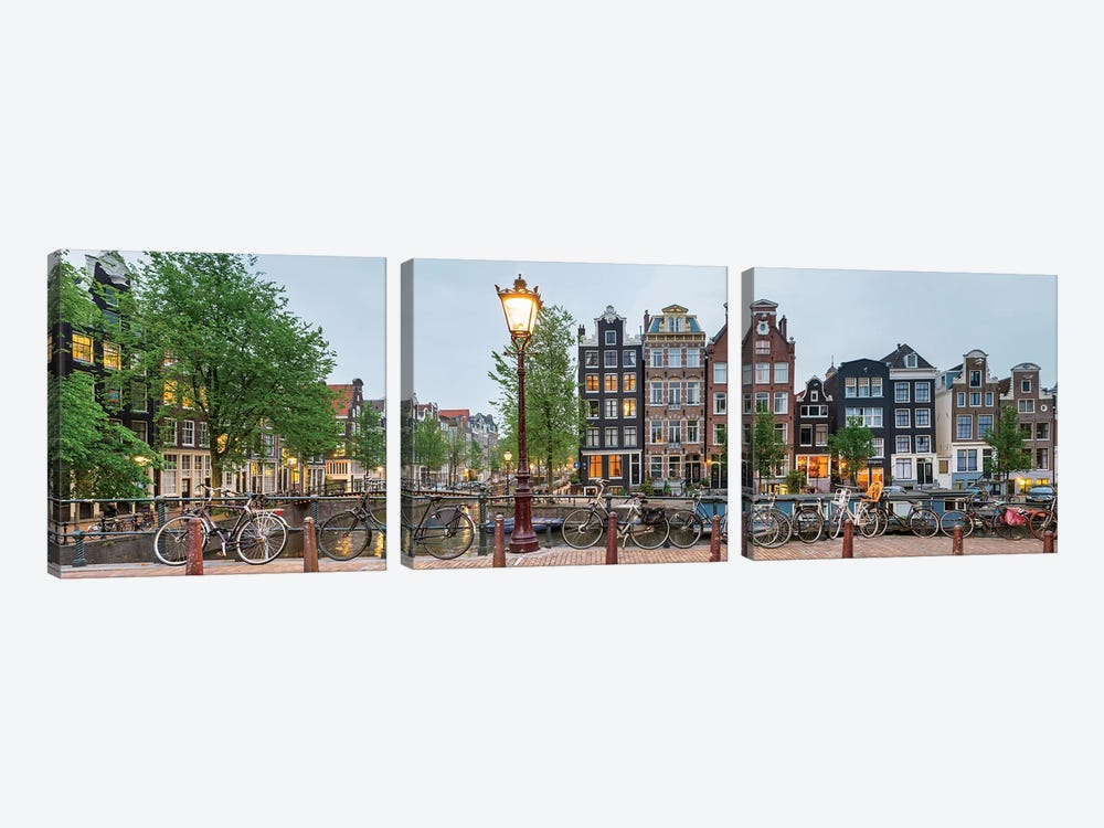 Cityscape I, Amsterdam, North Holland Province, Netherlands by Panoramic Images 3-piece Canvas Print