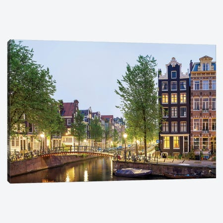 Cityscape II, Amsterdam, North Holland Province, Netherlands Canvas Print #PIM13966} by Panoramic Images Canvas Wall Art