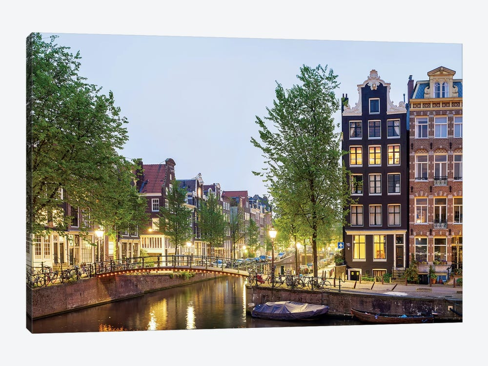 Cityscape II, Amsterdam, North Holland Province, Netherlands by Panoramic Images 1-piece Canvas Art