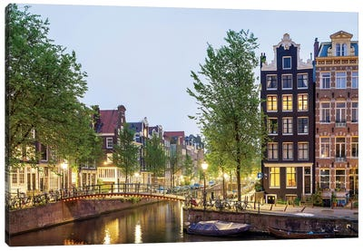 Cityscape II, Amsterdam, North Holland Province, Netherlands Canvas Art Print