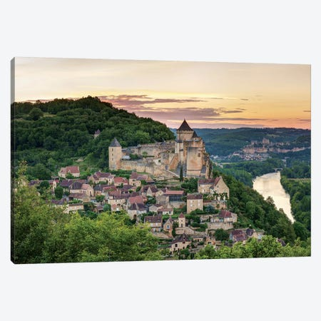 Chateau de Castelnaud, Castelnaud-la-Chapelle, Dordogne, Aquitaine, France Canvas Print #PIM13968} by Panoramic Images Canvas Print