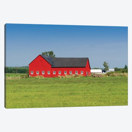 Red Barn, Grenville County, Ontario, Canada Canvas Print #PIM13970} by Panoramic Images Canvas Artwork