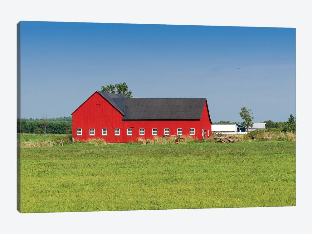 Red Barn, Grenville County, Ontario, Canada by Panoramic Images 1-piece Canvas Art Print