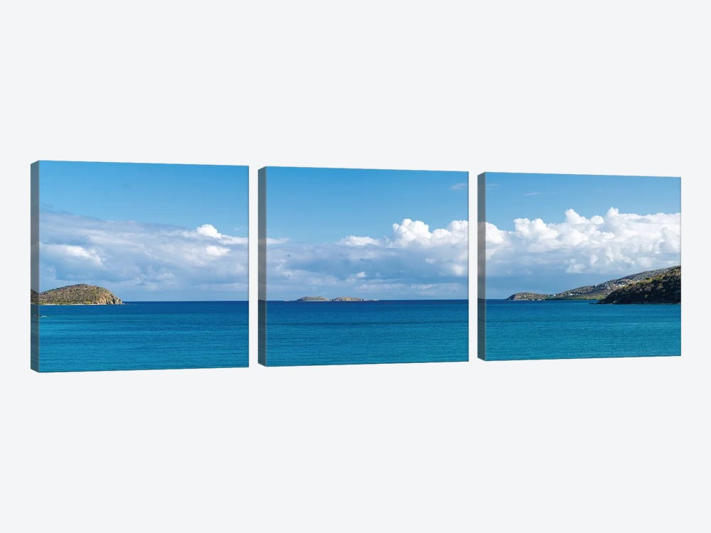 Seascape, Coral Bay, St. John, U.S. Virgin Islands 3-piece Canvas Artwork