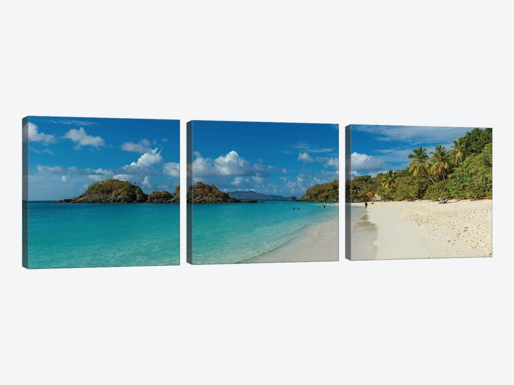 Trunk Bay II, St. John, U.S. Virgin Islands by Panoramic Images 3-piece Canvas Wall Art