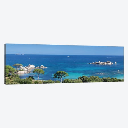 Palombaggia Beach, Porto Vecchio, Corse-du-Sud, Corsica, France Canvas Print #PIM13977} by Panoramic Images Canvas Print