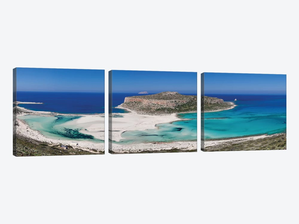 Cape Tigani I, Balos Lagoon, Kissamos, Chania, Crete, Greece by Panoramic Images 3-piece Art Print