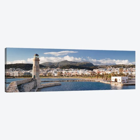 Rethymno Lighthouse, Rethymno, Crete, Greece Canvas Print #PIM13981} by Panoramic Images Canvas Art Print