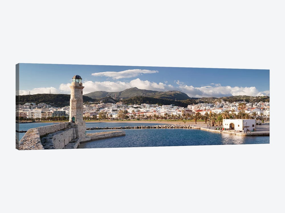 Rethymno Lighthouse, Rethymno, Crete, Greece by Panoramic Images 1-piece Canvas Art Print