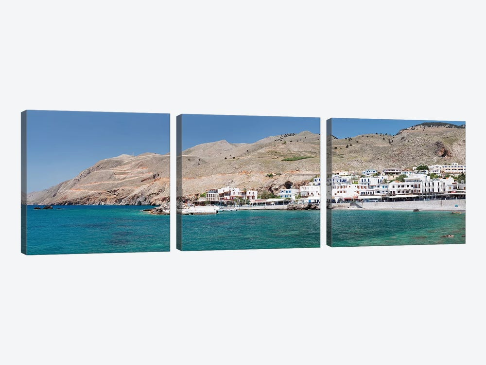 Hora Sfakion, Sfakia, Chania, Crete, Greece by Panoramic Images 3-piece Canvas Print