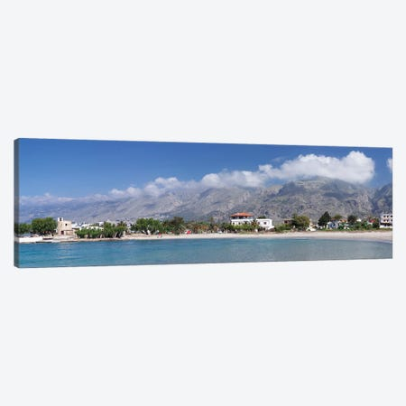 Beachfront Property, Frangokastello, Chania, Crete, Greece Canvas Print #PIM13984} by Panoramic Images Canvas Wall Art