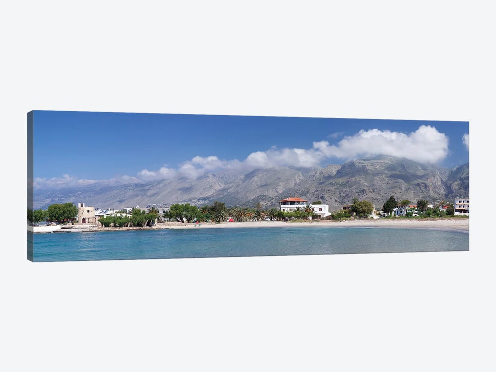 Beachfront Property, Frangokastello, Chania, Crete, Greece by Panoramic Images 1-piece Canvas Wall Art