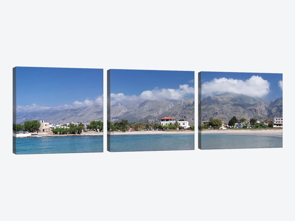 Beachfront Property, Frangokastello, Chania, Crete, Greece by Panoramic Images 3-piece Canvas Artwork