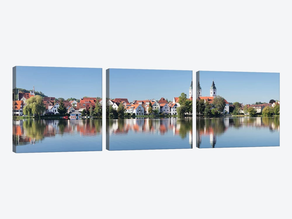 St. Peter's Church, Bad Waldsee, Ravensburg, Baden-Wurttemberg, Germany by Panoramic Images 3-piece Canvas Artwork