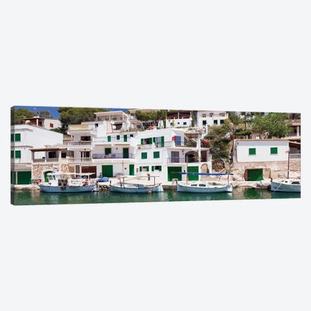 Waterfront Property, Cala Figuera, Santanyi, Majorca, Balearic Islands, Spain Canvas Print #PIM13988} by Panoramic Images Art Print