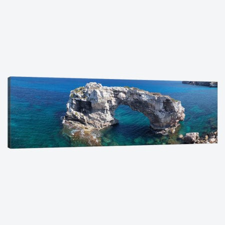 Es Pontas Natural Arch, Santanyi, Majorca, Balearic Islands, Spain Canvas Print #PIM13989} by Panoramic Images Art Print