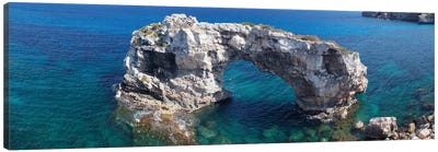 Es Pontas Natural Arch, Santanyi, Majorca, Balearic Islands, Spain Canvas Art Print