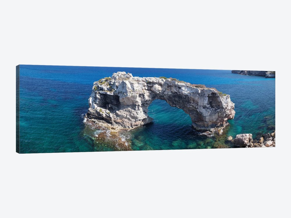 Es Pontas Natural Arch, Santanyi, Majorca, Balearic Islands, Spain by Panoramic Images 1-piece Art Print