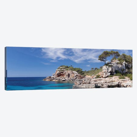 Cala s'Almunia Bay, Santanyi, Majorca, Balearic Islands, Spain Canvas Print #PIM13993} by Panoramic Images Canvas Art