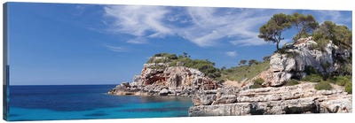 Cala s'Almunia Bay, Santanyi, Majorca, Balearic Islands, Spain Canvas Art Print