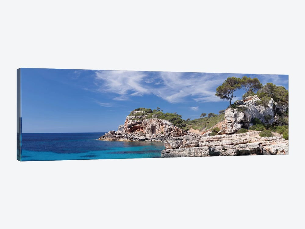 Cala s'Almunia Bay, Santanyi, Majorca, Balearic Islands, Spain by Panoramic Images 1-piece Canvas Artwork