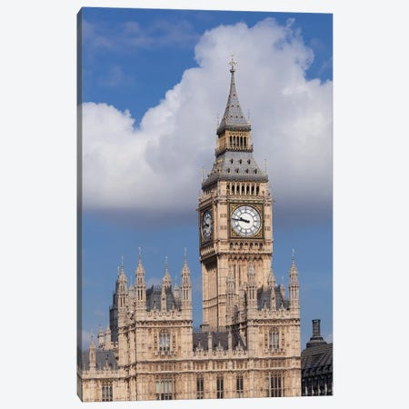 Big Ben, Palace of Westminster, City Of Westminster, London, England Canvas Print #PIM13995} by Panoramic Images Canvas Art Print