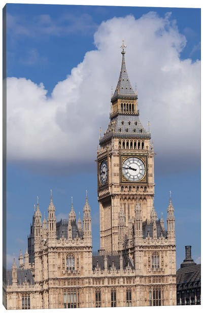 Big Ben, Palace of Westminster, City Of Westminster, London, England Canvas Art Print