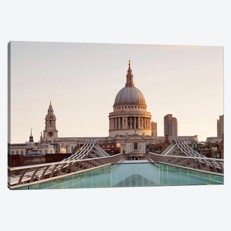 St. Paul's Cathedral I, Millennium Bridge, London, England Canvas Print #PIM13996} by Panoramic Images Canvas Art Print